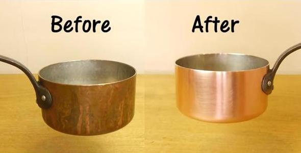 How To Clean A Copper Pan With Only 2 Ingredients