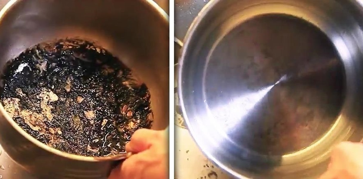 How to clean a burned pan full of grease! Tricks used by chefs