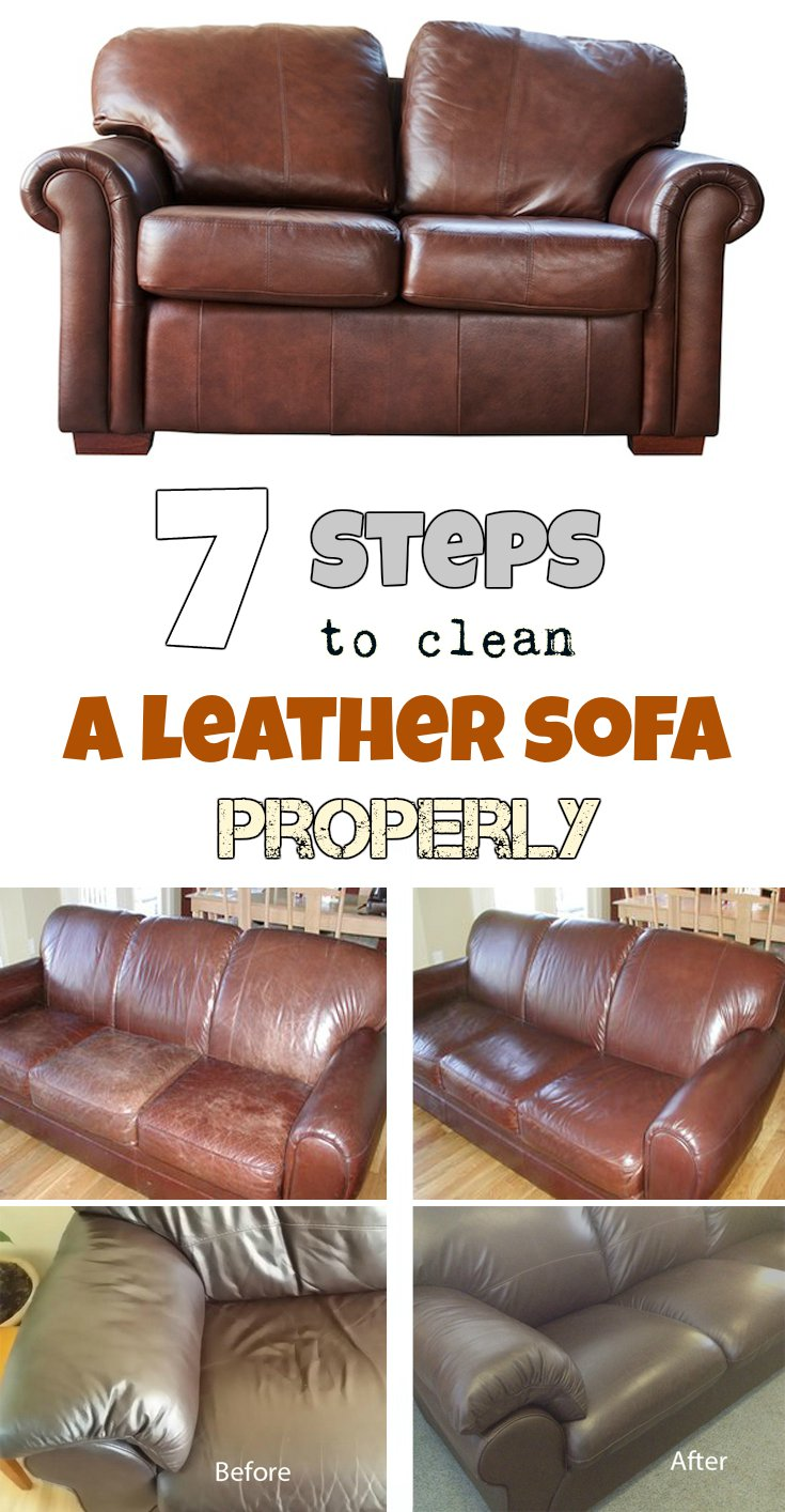 7 Steps To Clean A Leather Sofa Properly Getcleaningtips Net
