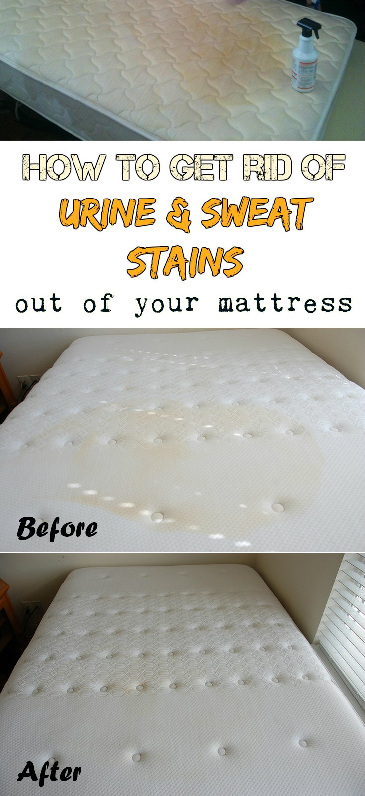 how to get rid of urine and sweat stains out of your mattress. Black Bedroom Furniture Sets. Home Design Ideas