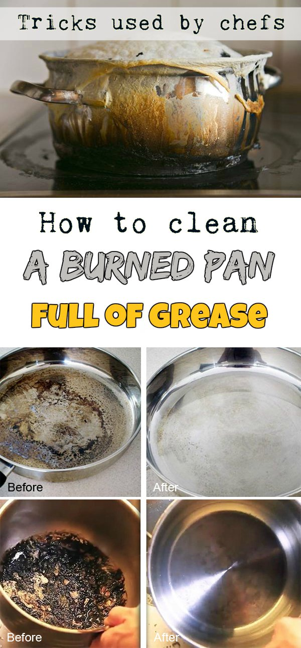 How To Clean A Burned Pan Full Of Grease Tricks Used By