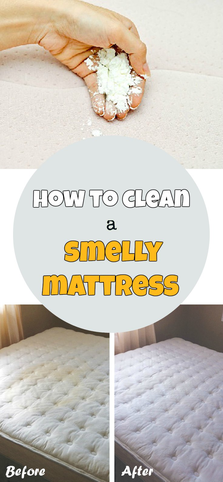 How to clean a smelly mattress CleaningTips