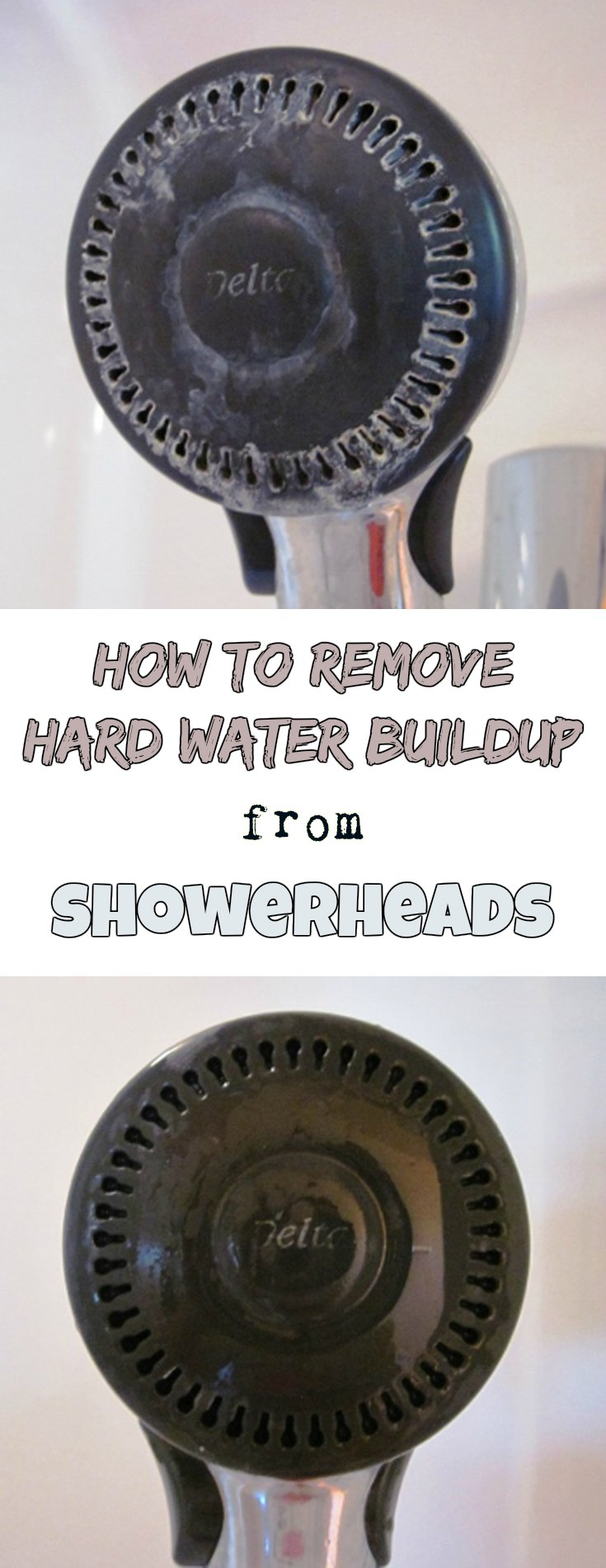 How to remove hard water buildup from showerheads ...