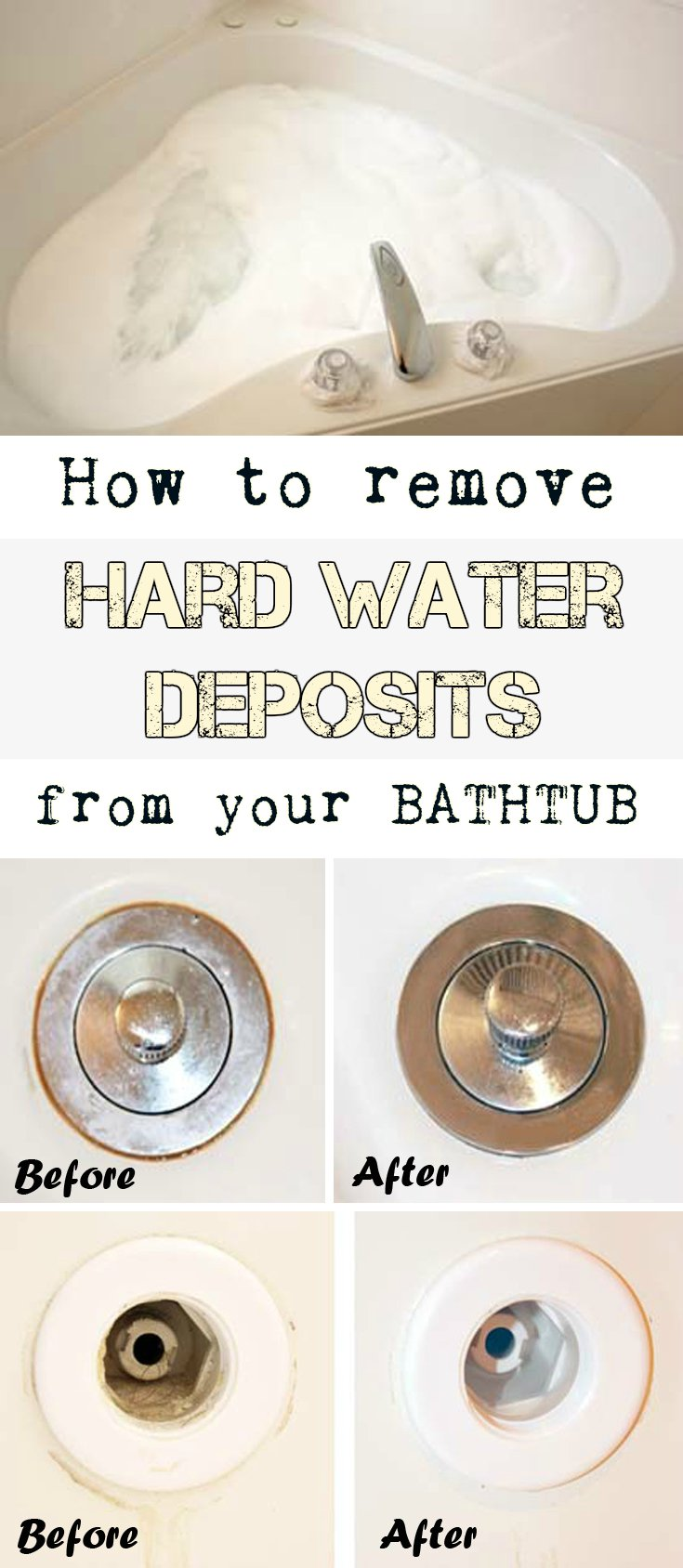 How to remove hard water deposits from your bathtub - How to remove rust stains from clothes in a few easy steps ...