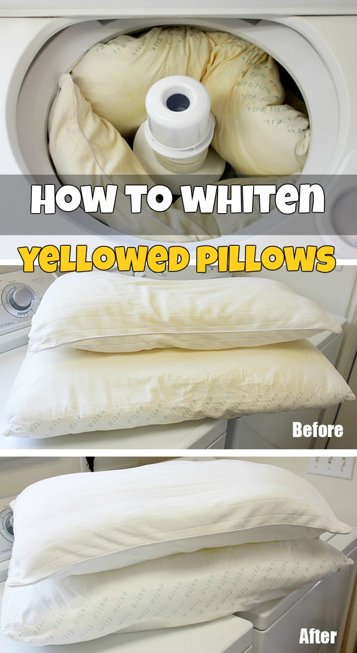 How To Whiten Yellowed Pillows Getcleaningtips Net