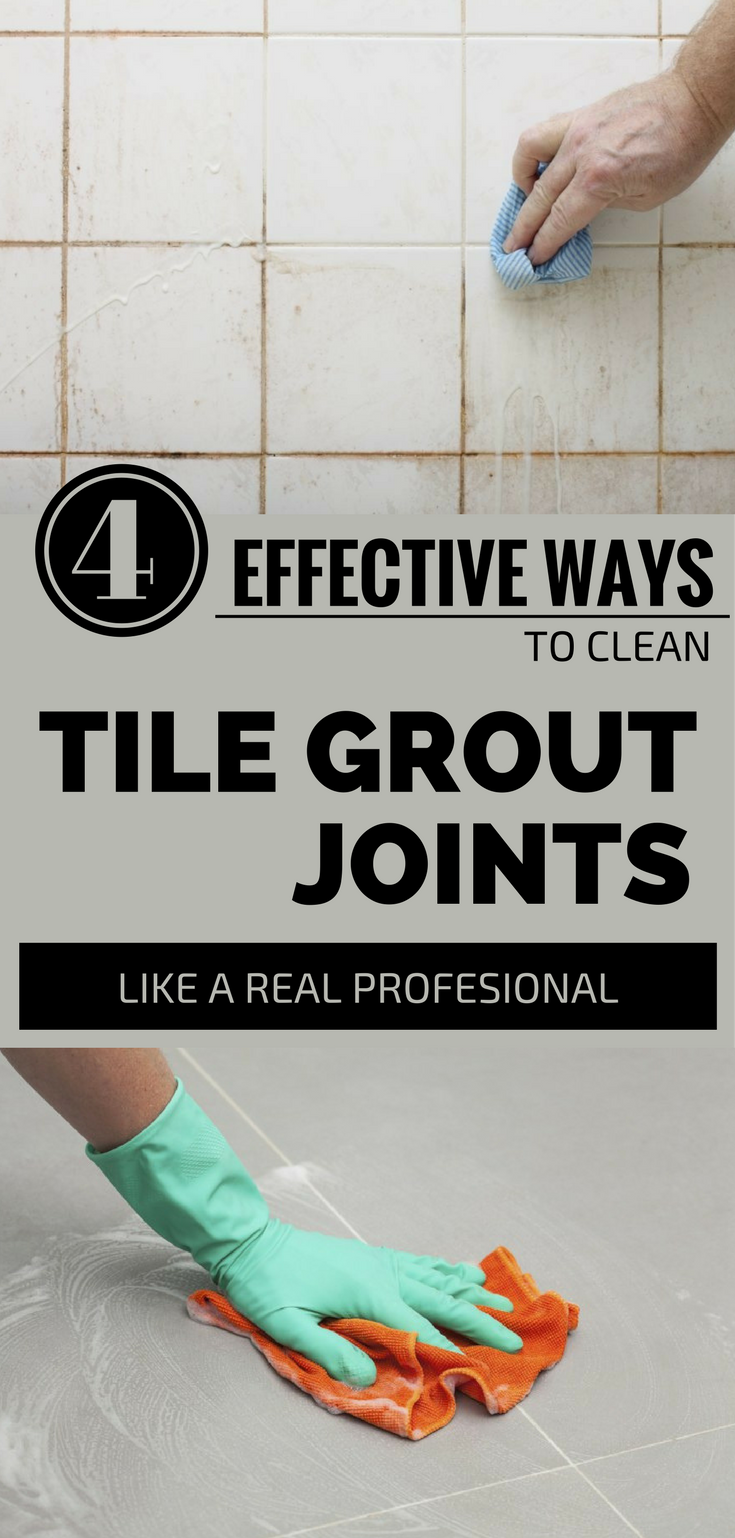 Easy way to clean grout on floor tiles