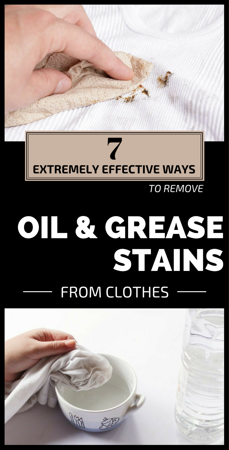 7 Extremely Effective Ways To Remove Oil And Grease Stains