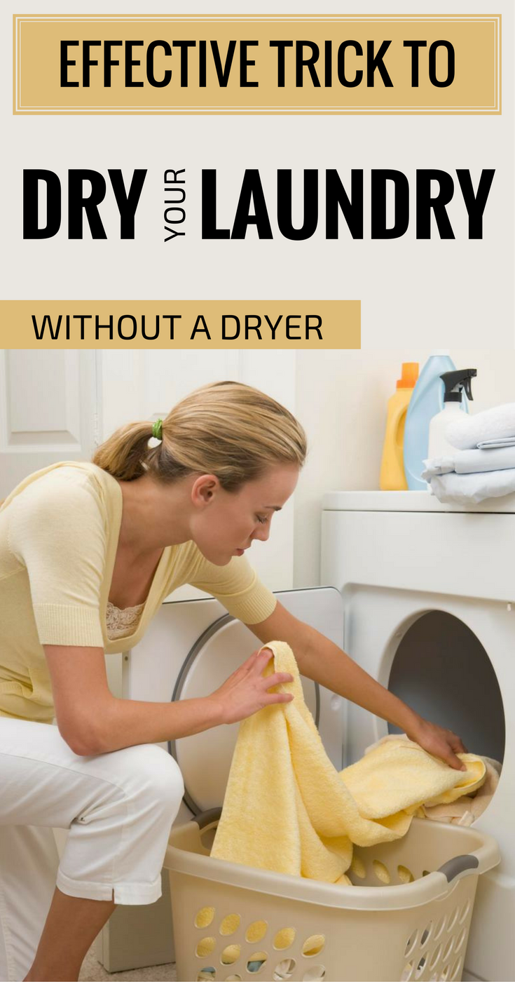 Effective Trick To Dry Your Laundry Without A Dryer ...