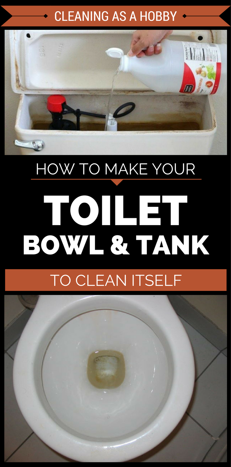 How To Make Your Toilet Bowl And Tank To Clean Itself