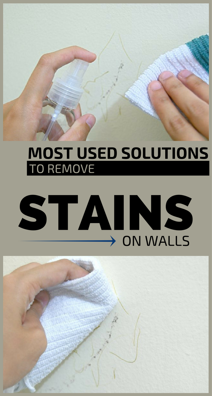 Most used solutions to remove stains on walls - Coffee stains oil stains get rid easily ...