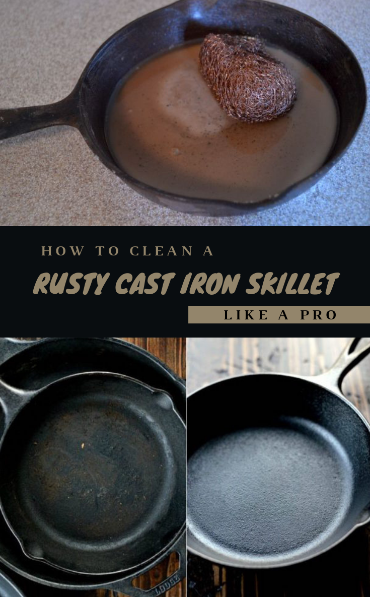 how to clean a rusty cast iron skillet like a pro. Black Bedroom Furniture Sets. Home Design Ideas