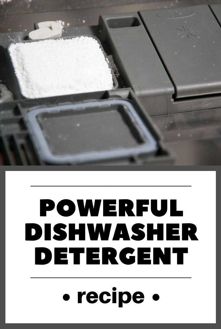 how to make dishwasher detergent